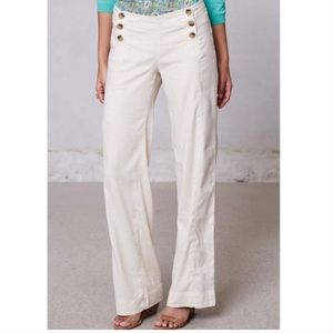 Anthro Level 99 Linen Sailor Button Pants | 26